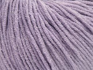 Modal is a type of yarn which is mixed with the silky type of fiber. It is derived from the beech trees. Fiber Content 55% Modal, 45% Acrylic, Light Lilac, Brand Ice Yarns, Yarn Thickness 3 Light  DK, Light, Worsted, fnt2-66705