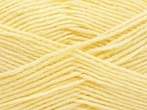 Fiber Content 50% Wool, 50% Acrylic, Light Yellow, Brand Ice Yarns, fnt2-66717