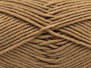 Fiber Content 100% Antipilling Acrylic, Brand Ice Yarns, Camel, Yarn Thickness 3 Light  DK, Light, Worsted, fnt2-66722