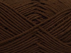 Fiber Content 50% Acrylic, 50% Bamboo, Brand Ice Yarns, Brown, Yarn Thickness 2 Fine  Sport, Baby, fnt2-66771