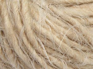 Fiber Content 40% Polyamide, 30% Merino Wool, 15% Acrylic, 15% Alpaca, Light Cream, Light Beige, Brand Ice Yarns, Yarn Thickness 5 Bulky  Chunky, Craft, Rug, fnt2-66801