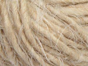 Fiber Content 40% Polyamide, 30% Merino Wool, 15% Acrylic, 15% Alpaca, Light Cream, Light Beige, Brand Ice Yarns, Yarn Thickness 5 Bulky  Chunky, Craft, Rug, fnt2-66801
