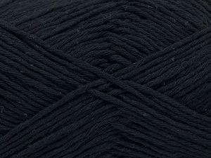 Fiber Content 100% Cotton, Brand Ice Yarns, Anthracite Black, Yarn Thickness 4 Medium  Worsted, Afghan, Aran, fnt2-66805