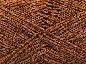 Fiber Content 100% Cotton, Light Brown, Brand Ice Yarns, Yarn Thickness 4 Medium  Worsted, Afghan, Aran, fnt2-66811