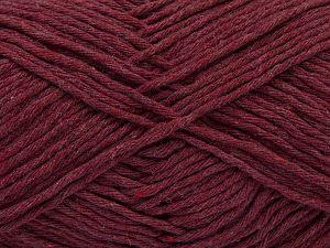 Fiber Content 100% Cotton, Brand Ice Yarns, Burgundy, Yarn Thickness 4 Medium  Worsted, Afghan, Aran, fnt2-66813
