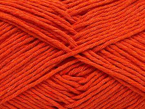 Fiber Content 100% Cotton, Orange, Brand Ice Yarns, Yarn Thickness 4 Medium  Worsted, Afghan, Aran, fnt2-66814