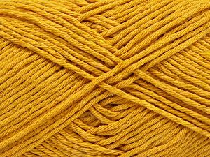Fiber Content 100% Cotton, Brand Ice Yarns, Dark Yellow, Yarn Thickness 4 Medium  Worsted, Afghan, Aran, fnt2-66815