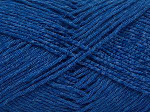 Fiber Content 100% Cotton, Brand Ice Yarns, Blue, Yarn Thickness 4 Medium  Worsted, Afghan, Aran, fnt2-66816