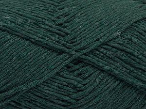 Fiber Content 100% Cotton, Brand Ice Yarns, Dark Green, Yarn Thickness 4 Medium  Worsted, Afghan, Aran, fnt2-66817