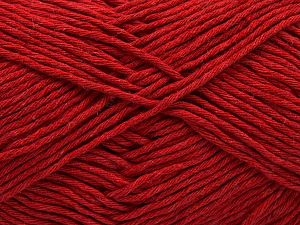 Fiber Content 100% Cotton, Red, Brand Ice Yarns, Yarn Thickness 4 Medium  Worsted, Afghan, Aran, fnt2-66822