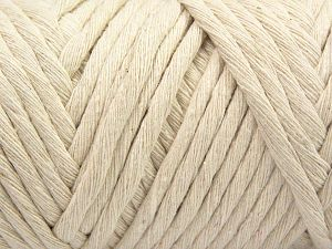 Fiber Content 100% Cotton, Brand Ice Yarns, Cream, Yarn Thickness 6 SuperBulky  Bulky, Roving, fnt2-66826