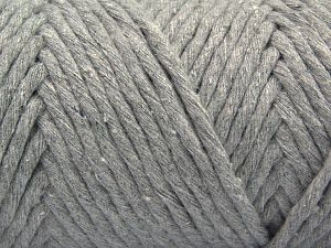 Fiber Content 100% Cotton, Light Grey, Brand Ice Yarns, Yarn Thickness 6 SuperBulky  Bulky, Roving, fnt2-66827