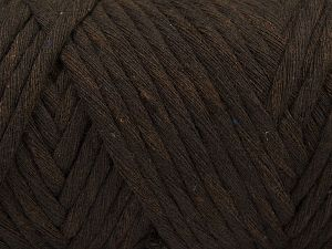 Fiber Content 100% Cotton, Brand Ice Yarns, Dark Brown, Yarn Thickness 6 SuperBulky  Bulky, Roving, fnt2-66830