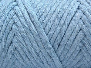 Fiber Content 100% Cotton, Brand Ice Yarns, Baby Blue, Yarn Thickness 6 SuperBulky  Bulky, Roving, fnt2-66834