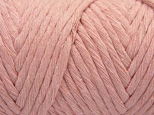 Fiber Content 100% Cotton, Brand Ice Yarns, Baby Pink, Yarn Thickness 6 SuperBulky  Bulky, Roving, fnt2-66857