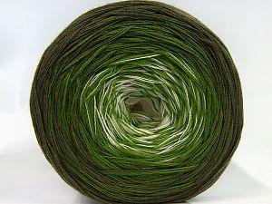 Fiber Content 50% Acrylic, 50% Cotton, White, Khaki, Brand Ice Yarns, Green, Yarn Thickness 2 Fine  Sport, Baby, fnt2-66858