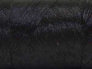 Fiber Content 70% Metallic Lurex, 30% Cotton, Brand Ice Yarns, Black, Yarn Thickness 1 SuperFine  Sock, Fingering, Baby, fnt2-66863