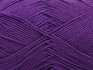 Fiber Content 50% Cotton, 50% Acrylic, Purple, Brand Ice Yarns, Yarn Thickness 2 Fine  Sport, Baby, fnt2-66893