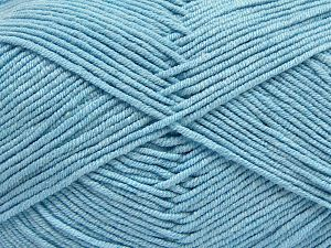 Fiber Content 50% Acrylic, 50% Cotton, Brand Ice Yarns, Baby Blue, Yarn Thickness 2 Fine  Sport, Baby, fnt2-66895