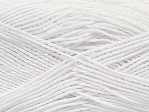 Fiber Content 100% Mercerised Giza Cotton, White, Brand Ice Yarns, Yarn Thickness 2 Fine  Sport, Baby, fnt2-66915