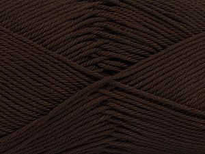 Fiber Content 100% Mercerised Giza Cotton, Brand Ice Yarns, Dark Brown, Yarn Thickness 2 Fine  Sport, Baby, fnt2-66917