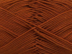 Fiber Content 100% Mercerised Giza Cotton, Brand Ice Yarns, Caramel, Yarn Thickness 2 Fine  Sport, Baby, fnt2-66919