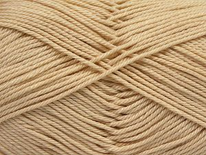 Fiber Content 100% Mercerised Giza Cotton, Brand Ice Yarns, Dark Cream, Yarn Thickness 2 Fine  Sport, Baby, fnt2-66921