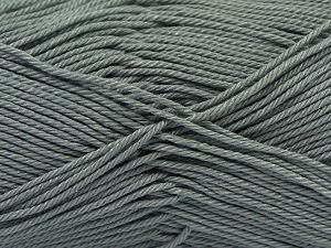 Fiber Content 100% Mercerised Giza Cotton, Brand Ice Yarns, Grey, Yarn Thickness 2 Fine  Sport, Baby, fnt2-66924