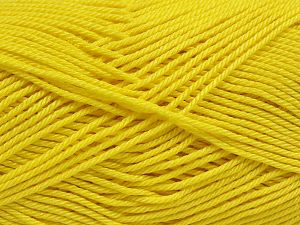 Fiber Content 100% Mercerised Giza Cotton, Yellow, Brand Ice Yarns, Yarn Thickness 2 Fine  Sport, Baby, fnt2-66934