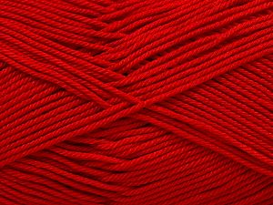 Fiber Content 100% Mercerised Giza Cotton, Red, Brand Ice Yarns, Yarn Thickness 2 Fine  Sport, Baby, fnt2-66940