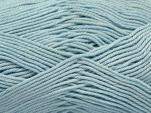 Fiber Content 100% Mercerised Giza Cotton, Light Turquoise, Brand Ice Yarns, Yarn Thickness 2 Fine  Sport, Baby, fnt2-66946