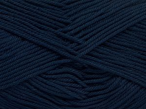 Fiber Content 100% Mercerised Giza Cotton, Brand Ice Yarns, Dark Navy, Yarn Thickness 2 Fine  Sport, Baby, fnt2-66949