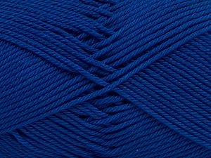 Fiber Content 100% Mercerised Giza Cotton, Royal Blue, Brand Ice Yarns, Yarn Thickness 2 Fine  Sport, Baby, fnt2-66951