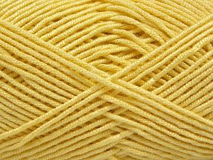 Fiber Content 50% Acrylic, 50% Bamboo, Light Yellow, Brand Ice Yarns, Yarn Thickness 2 Fine  Sport, Baby, fnt2-66983