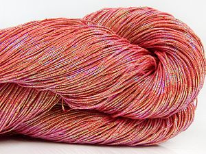 Please note that this is a hand-dyed yarn. Colors in different lots may vary because of the charateristics of the yarn. Also see the package photos for the colorway in full; as skein photos may not show all colors. Fiber Content 60% Metallic Lurex, 40% Cotton, Salmon, Brand Ice Yarns, Yarn Thickness 2 Fine  Sport, Baby, fnt2-66988