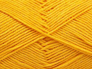 Fiber Content 50% Acrylic, 50% Cotton, Yellow, Brand Ice Yarns, Yarn Thickness 2 Fine  Sport, Baby, fnt2-67017