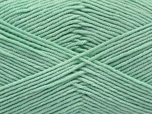 Fiber Content 50% Cotton, 50% Acrylic, Light Mint Green, Brand Ice Yarns, Yarn Thickness 2 Fine  Sport, Baby, fnt2-67020