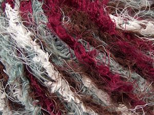 Fiber Content 100% Polyamide, White, Brand Ice Yarns, Burgundy, Brown, Yarn Thickness 6 SuperBulky  Bulky, Roving, fnt2-67029