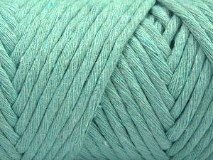 Fiber Content 100% Cotton, Mint Green, Brand Ice Yarns, Yarn Thickness 6 SuperBulky  Bulky, Roving, fnt2-67037