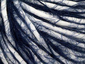 Fiber Content 65% Polyamide, 35% Cotton, White, Navy, Brand Ice Yarns, fnt2-67052