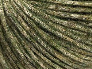 Fiber Content 53% Cotton, 19% Acrylic, 14% Wool, 14% Alpaca, Khaki, Brand Ice Yarns, fnt2-67056