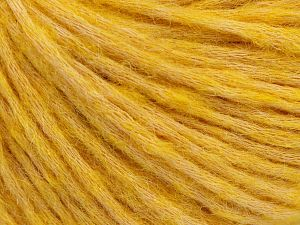 Fiber Content 53% Cotton, 19% Acrylic, 14% Wool, 14% Alpaca, Yellow, Brand Ice Yarns, fnt2-67057