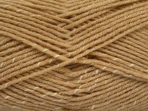 Fiber Content 76% Acrylic, 14% Cotton, 10% Bamboo, Light Camel, Brand Ice Yarns, Cream, Yarn Thickness 2 Fine  Sport, Baby, fnt2-67078