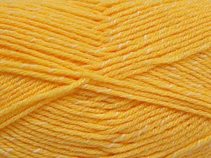 Fiber Content 76% Acrylic, 14% Cotton, 10% Bamboo, Yellow, Brand Ice Yarns, Cream, Yarn Thickness 2 Fine  Sport, Baby, fnt2-67080