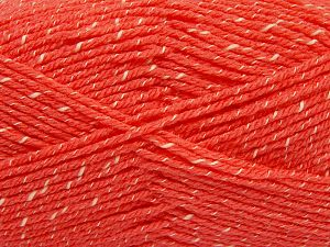 Fiber Content 76% Acrylic, 14% Cotton, 10% Bamboo, Salmon, Brand Ice Yarns, Cream, Yarn Thickness 2 Fine  Sport, Baby, fnt2-67084