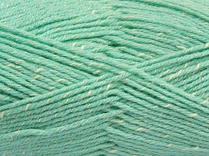 Fiber Content 76% Acrylic, 14% Cotton, 10% Bamboo, Water Green, Brand Ice Yarns, Cream, Yarn Thickness 2 Fine  Sport, Baby, fnt2-67091