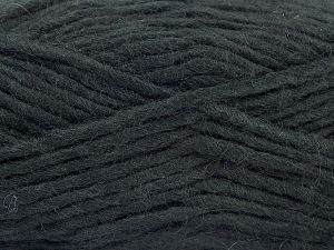 Fiber Content 85% Acrylic, 5% Mohair, 10% Wool, Brand Ice Yarns, Black, Yarn Thickness 5 Bulky  Chunky, Craft, Rug, fnt2-67094