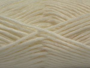 Fiber Content 85% Acrylic, 5% Mohair, 10% Wool, White, Brand Ice Yarns, Yarn Thickness 5 Bulky  Chunky, Craft, Rug, fnt2-67095