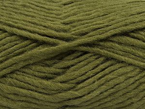 Fiber Content 85% Acrylic, 5% Mohair, 10% Wool, Khaki, Brand Ice Yarns, Yarn Thickness 5 Bulky  Chunky, Craft, Rug, fnt2-67104