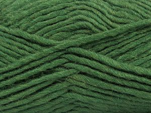 Fiber Content 85% Acrylic, 5% Mohair, 10% Wool, Brand Ice Yarns, Dark Green, Yarn Thickness 5 Bulky  Chunky, Craft, Rug, fnt2-67105
